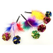 Kattleksak Feather Crinkle Pomz refill