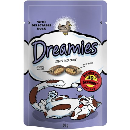 Kattgodis dreamies anka 60g
