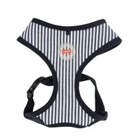 KATTSELE PUPPIA SOFT HARNESS STRIPED NAVY S