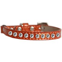 Katthalsband Strass Glittrigt Orange
