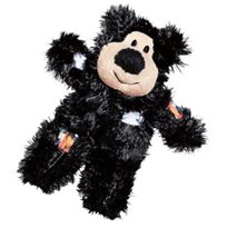 Kattleksak Softies Patchwork Bear svart