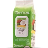 TROPICLEAN HYPO ALLERGENIC WIPES 100ST